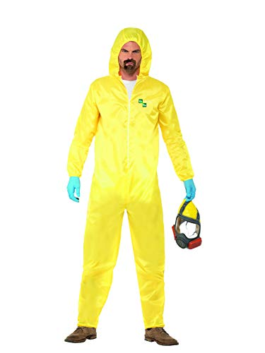 (Smiffy's Men's Breaking Bad Costume, Hazmat Suit, Rubber Mask, Gloves & Goatee,)