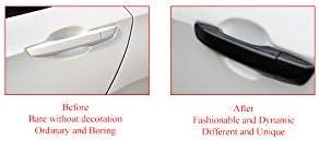 beler 8stk ABS Carbon Faser Stil Au/ßen Seite T/ürgriff Abdeckung f/ür Honda Civic 10th Limousine 2016 2017