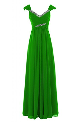scollo Verde Charming V Bridesmaid Empire abito Gowns lungo chiaro Pageant con Sunvary a 6IPRaw6q