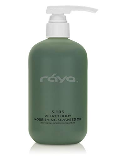 RAYA Velvet Body Nourishing Seaweed Oil 16 oz (S-105) | Hydrating and Nourishing Body Treatment | Made with Natural French Seaweed Oil, Vitamins, and Minerals