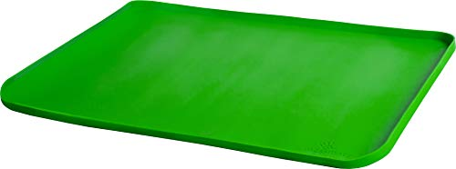 Messmatz by PlaSmart, Food Grade Silicone, 24 x 18 Green Craft Mat, The Creativity Mat with an Edge, Classroom Size, Ages 0 and up, Non-toxic, Easy to Clean