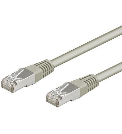 PC-Kabelwelt 25 m 25m Patchkabel CAT 5e grau 2x RJ45 Stecker Netzwerk Ethernet LAN Kabel Netzwerkkabel FTP/ STP Gigabit Twisted Pair 1000 Mbit/s geeignet für Patchpanel, Modem, Switch, Patchfelder, Router, DSL Verbindung, Accessponit und weitere Geräte mit RJ45 Anschluss
