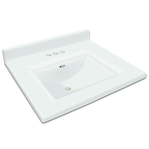 Cultured Marble Bathroom - Transolid Camila2225-0 Camila Cultured Marble 4-in Centerset Single-Bowl Vanity Top, 25