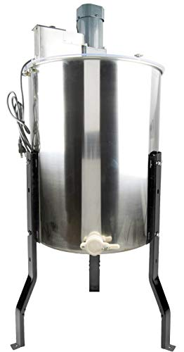 (VIVO Electric 4 Frame Stainless Steel Honey Extractor | Honeycomb Drum Spinner (BEE-V004E))