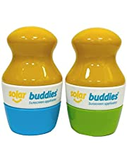 Solar Buddies Refillable Roll On Sponge Applicator For Kids, Adults, Families, Travel Size Holds 100ml Travel Friendly for Sunscreen, Suncream and Lotions
