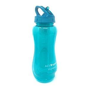 Sports Water Bottle 2-Pack Multi-Pack - Easy Flip Straw & Ice Cooler - 2 Colors, Eastman Tritan, BPA-Free, Ergonomic Shape, 27oz (800mL), by Unity