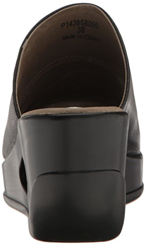 Fly London Womens HIMA868FLY Wedge Leather Sandals negro