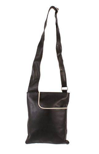 Oxbridge Satchels, Borsa a secchiello donna nero Black