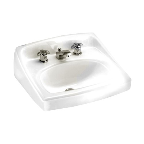 American Standard 0356.015.020 Lucerne Wall-Mount Lavatory Sink with 8-Inch Faucet Spacing, White