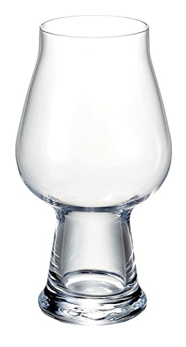Luigi Bormioli Birrateque Craft Beer Glasses Stout (Set of 2), 20.25 oz, Clear (Best Glass For Stout)