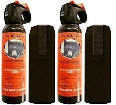 2 Personal Defense UDAP Bear Sprays w/ Holsters 12VHP