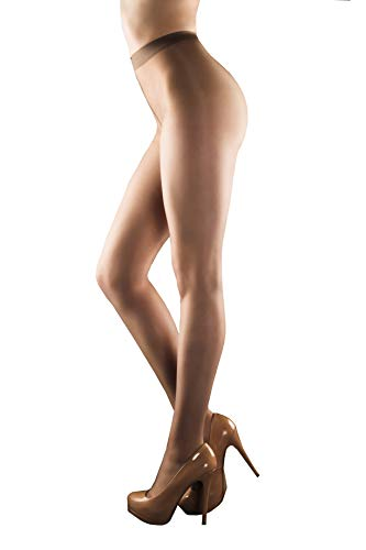 (INVISIBILE 20 den | All Sheer and Control Top Pantyhose | Tummy Tucker | Body Shaping Tights | Hip Hider PantyHose | Sizes S-L | 1 Pair (beige, L))