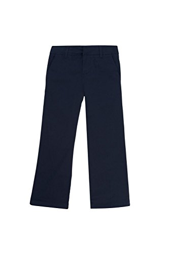 French Toast Big Girls Twill Boot Cut Pant, Navy, (Twill Bootcut Pants)