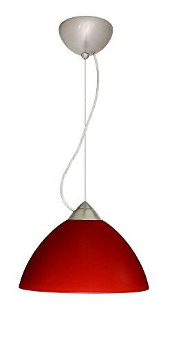 Besa Lighting 1KX-420131-SN Tessa - One Light Pendant, Choose Finish: SN: Satin Nickel, Choose Mounting Option: 1KX: Dome Canopy Cable Fixture, Choose Lamping Option: 75W Incandescent-A19 Medium-120v