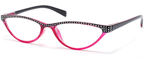 Cat Eye Retro Reading Glasses For Women Red By Florida Glasses® - Florida Glasses