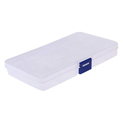 Agordo Mini Plastic Clear Storage Case Collection Organizer Box for Jewelry Screws