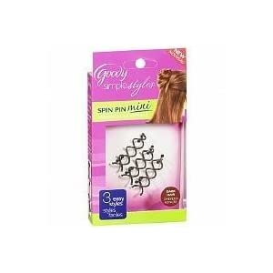 Goody Simple Styles Spin Pin, Assorted Colors Dark or Light Hair, 2 Count