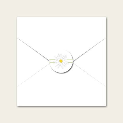 Delicate Daisies - Wedding Envelope Seals The Card Gallery