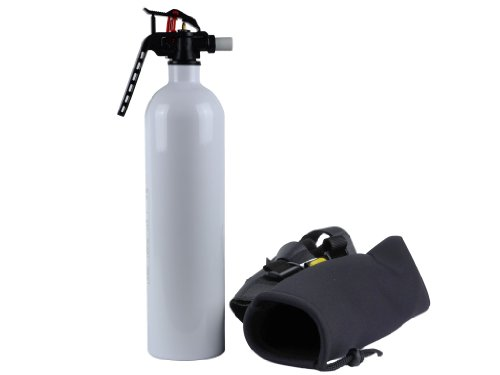 Jeep Wrangler JK 2.9lb Auto Fire Extinguisher AND Black Holder for Roll Bar ()