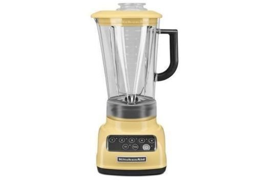 KitchenAid RKSB1570MY 5-Speed Blender with 56-Ounce BPA-Free Pitcher - Majestic Yellow (Renewed) (Blender Yellow)