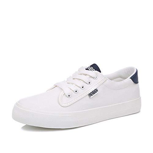 de Lona de white Primavera de Zapatos Sólido Pareja Color Planos Hasag Zapatos Estudiante Zapatos Mujer Deportivos EqTnZtxnR