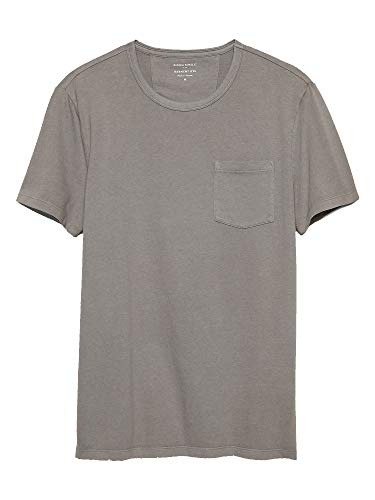 Banana Republic Mens Garment Dye T Shirt, Clay (XL)