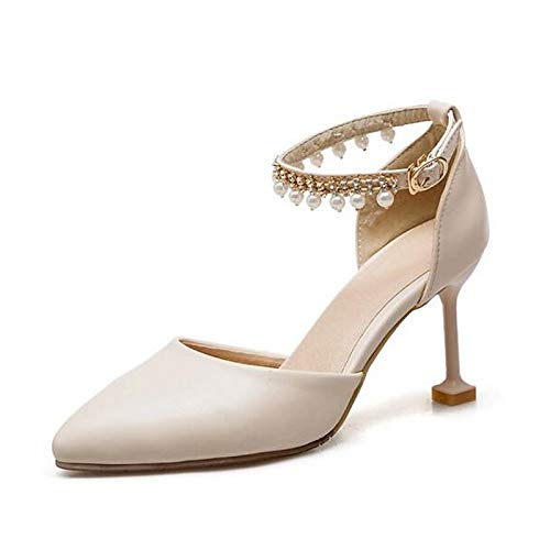 Black Women's Pink Summer White White PU Heels Shoes ZHZNVX Heel Comfort Polyurethane Stiletto vnRddxq