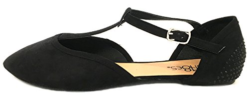 18 Ballet Toe Flat Pointed Shoes 5103 Black Womens SwPq1ga