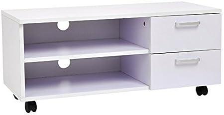 HomCom Mueble de TV Blanco Madera Melamina 80 x 30 x 35 cm ...