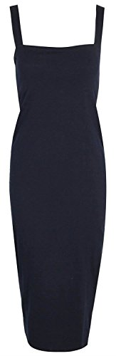 Dress Selfie Click Navy New Womens Bodycon Long Pencil FqYqrd