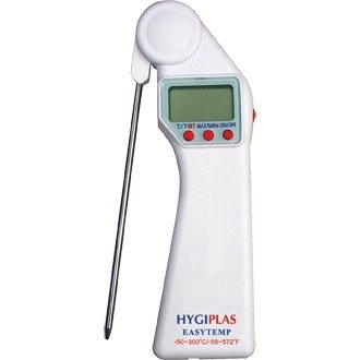 Easytemp Pocket Stem Thermometer - foldaway probe and auto on / off functions - store it in the pocket of your chef's whites!