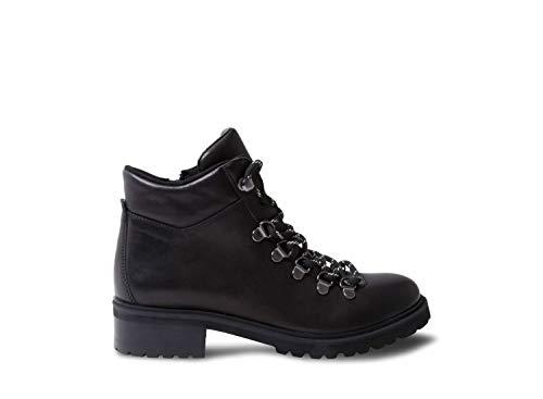 Steve Madden Women's Lora Black Leather Bootie Casual 10 US