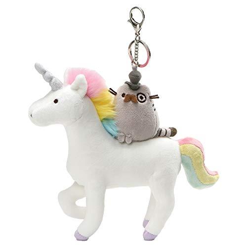 "GUND Pusheen Fancy Unicorn & Kitty Plush Deluxe Keychain Clip, 8.5"""