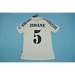 BROOK Zidane#5 Real Madrid Home Retro Soccer Jersey Maillot 2002 Full UCL. Patch