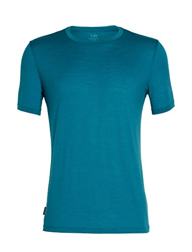 Icebreaker Merino Men's Tech Lite Short Sleeve Crew Neck Shirt, Poseidon, Medium