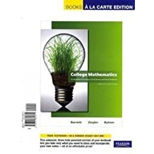 College Mathematics for Business, Economics, Life Sciences and Social Sciences, A La Carte with MML/MSL Student Access Kit (adhoc for valuepacks) (12th Edition) (Books a la Carte) by Raymond A. Barnett (2010-06-05)