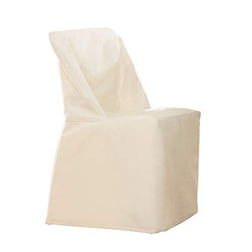 SureFit  Cotton Duck Fabric Folding Chair Slipcover, Natural