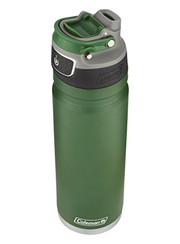 Heritage Water Bottle (Coleman FreeFlow AUTOSEAL Insulated Stainless Steel Water Bottle, Heritage Green, 24 oz.)
