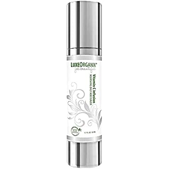Organic Face Moisturizer: Anti Aging Wrinkle Cream - Made in USA - Skin Tightening Vitamin C To Reduce Appearance of Dark Spots. Vegan All Natural Daily Facial and Neck Firming Lotion - 1.7 Ounce Pump