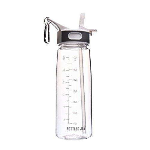 water bottle bpa free with straw - 1