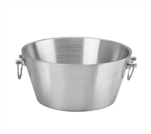 Kraftware Party Tub - 15'' inch Doublewall Insulated Stainless-Steel, Back Yard BBQ Beer Tub Great for Weddings, Special Events and Parties by Kraftware