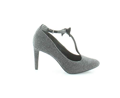 Nine West T-strap Pumps - Nine West Womens Hollison Closed Toe T-Strap Classic Pumps, Grey, Size 6.5