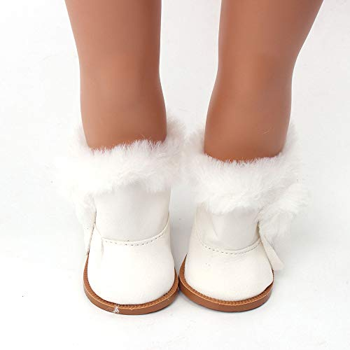 Wensltd Clearance! Doll Shoes Winter Snow Boot for 18 Inch American Girl Doll Accessory Girls Toy (White)
