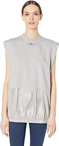 adidas by Stella McCartney Women's Sleeveless Medium Grey Heather Large (Stella Mccartney Sonnenbrille)