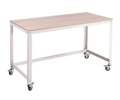 Amazon.com: Wila-Writing Desk-Light Oak Wood Gray Metal Legs ...