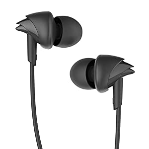 boAt BassHeads 100 in-Ear Headphones with Mic (Black)