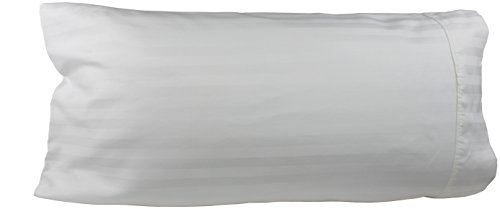 (Egyptian Cotton Luxury Striped 540 Thread Count Body Pillow Cover, 21 x 60 Inch, Striped White)
