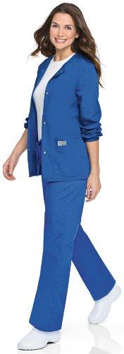 - Scrubzone By Landau Women's Warm Up Solid Scrub Jacket Xxx-Large Nautical