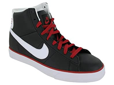 Men Nike Sweet Classic High Black White Gym Red Shoes