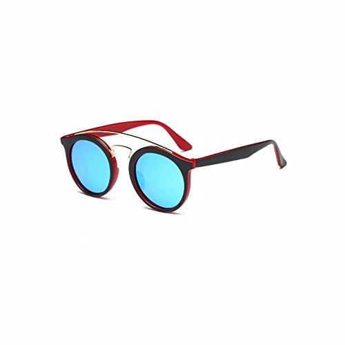 do tamaño Gafas Un de de hombres personalidad do Gafas sol polarizadas Gafas retro recubiertas femenina Marco AN de Gafas los redondo wTHUw